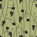 Grape seamless pattern Stock Photos