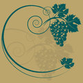 The grape silhouette Royalty Free Stock Photo