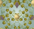 Grape tile design Royalty Free Stock Photo