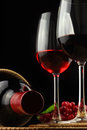 The grape and wine Stock Images