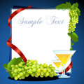 Grape wine card Stock Image
