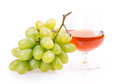 Grape wine glass isolated on white background Stock Images
