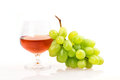 Grape wine glass isolated on white background Royalty Free Stock Image