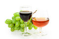 Grape wine glass isolated on white background Stock Image