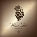 Grape wine list over bronze background vector illustration Stock Photo