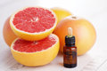 Grapefruit essential oil Royalty Free Stock Photo