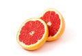 Grapefruit halves isolated on white background Stock Photography