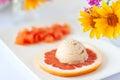 image photo : Grapefruit ice cream