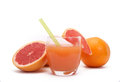 Grapefruit juice a glass of Royalty Free Stock Images