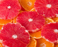Grapefruit and orange Stock Photography