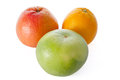 Grapefruit, orange, and sweetie Royalty Free Stock Image