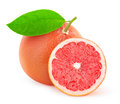 Grapefruit pink over white background Royalty Free Stock Photography