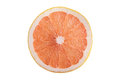Grapefruit section isolated on white with clipping path Stock Images
