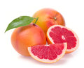 Grapefruit with segments on a white background Stock Images