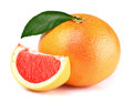 Grapefruit with slice Royalty Free Stock Photo