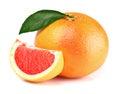 Grapefruit with slice Royalty Free Stock Photo