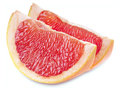 Grapefruit slice with clipping path on white background Stock Photography