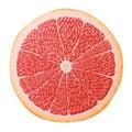 Grapefruit slice close up
