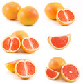 Grapefruits collection Royalty Free Stock Photos
