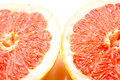 Grapefruits fresh composition of yellow and red Stock Photography
