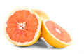 Grapefruits isolated white background Royalty Free Stock Images