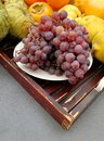 Grapes and autumn fruits Royalty Free Stock Photo