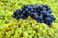 Grapes on the exhibition stall put up for sale Royalty Free Stock Photography