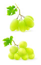 Grapes green over white background Royalty Free Stock Photo