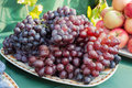 Grapes illuminated bright sunlight Royalty Free Stock Photo