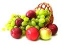 Uvas pluma y manzana