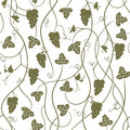 Grapes - repetitive seamless wallpaper, vector illustration Royalty Free Stock Photo