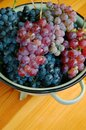 Grapes on wooden table