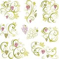 Grapevine motifs Royalty Free Stock Images