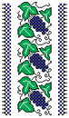Grapevine needlepoint  border Stock Photos