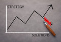 Graph analysis stretegy and solution business concept