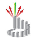 Graph and arrows Royalty Free Stock Image
