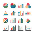 Graph chart business and financial icons set vector illustratio illustration Royalty Free Stock Photography