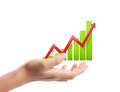 Graph on hand local businessmen Royalty Free Stock Images