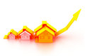 Graph of the housing market Royalty Free Stock Photo