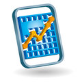Graph icon Royalty Free Stock Photography