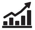 Graph icon Royalty Free Stock Photo