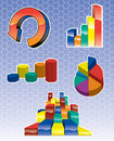 Graph Icons Royalty Free Stock Photo