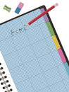 Graph paper notebook Stock Photo