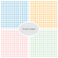 Graph paper patterns Royalty Free Stock Photos