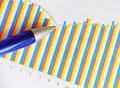 Graph and pen Royalty Free Stock Photo
