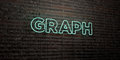 GRAPH -Realistic Neon Sign on Brick Wall background - 3D rendered royalty free stock image Royalty Free Stock Photo
