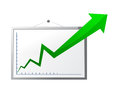 Graph on screen Royalty Free Stock Photography