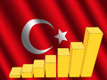 Graph on Turkish flag Stock Photo