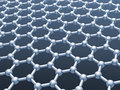 Graphene layer structure model monochrome d render illustration Royalty Free Stock Image