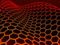 Graphene molecular structure on black Royalty Free Stock Photography